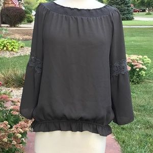 Maurices Dark Army Green Blouse (L)